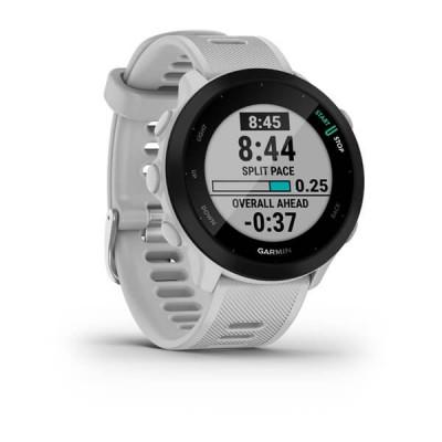 Montre Forerunner 55 blanche Garmin UNISEXE - Triathlon Store
